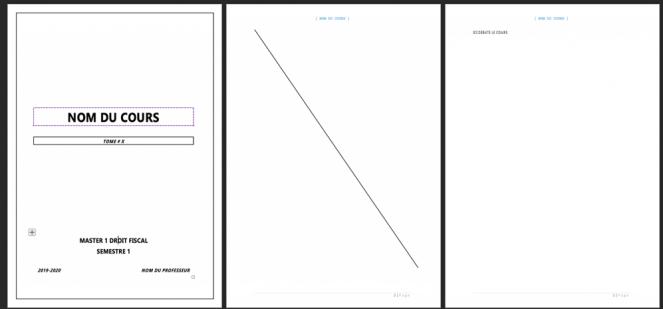 Modèle de document vierge